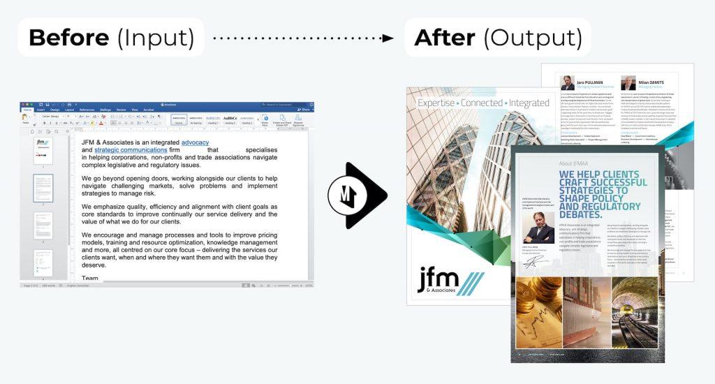 JFMAA Brochure Design - JFM & Associates